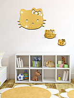 1PS  DIY Animals Fashion Leisure Wall Stickers 3D Wall Stickers Mirror Wall Stickers Decorative Wall StickersGlass Material Home DecorationWall