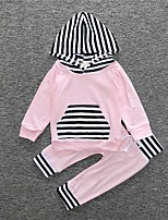 Girls' Casual/Daily Solid Sets,Cotton Spring Long Sleeve Clothing Set