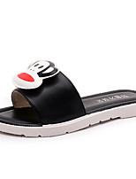 Women's Slippers & Flip-Flops Summer Mary Jane Leatherette Casual Flat Heel Walking