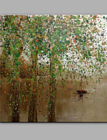 Hand-Painted Abstract The Willows Around The Lake Oil painting Ready To Hang Modern One Panels Canvas Oil Painting For Home Decoration