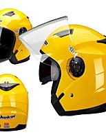 Jiekai casque moto unisexe scooter casque motos casco capacete à double lentille