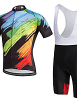 AOZHIDIAN Summer Cycling Jersey Short Sleeves BIB Shorts Ropa Ciclismo Cycling Clothing Suits #AZD139