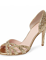 Women's Sandals Summer Club Shoes D'Orsay & Two-Piece Leatherette Wedding Party & Evening Dress Stiletto Heel Sequin