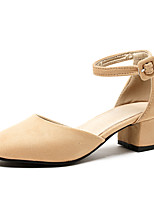 Women's Sandals Spring Summer Fall Club Shoes Synthetic PU Office & Career Dress Party & Evening Chunky Heel Block Heel BuckleBlack