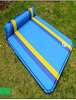 Moistureproof/Moisture Permeability Inflated Mat Camping Pad Sleeping Pad Yellow Green Blue Hiking Camping Traveling