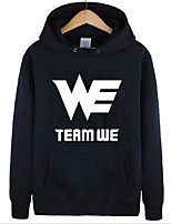 Men's Casual/Daily Hoodie Print Round Neck Micro-elastic Cotton Long Sleeve Spring Winter