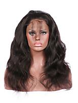 360 fechamento laço frontal onda brasileiro corpo cabelo virgem - linha fina natural - nós levemente clareado com cabelo do bebê - banda