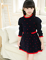 Girl's Print Dress,Cotton Winter Spring Fall Long Sleeve