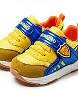 Желтый-Девочки-Для прогулок Повседневный-Дерматин-На низком каблуке-Обувь для малышей-На плокой подошве