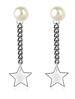 Women's Drop Earrings Casual Unique Imitation Pearl Euramerican Fashion Personalized Classic Copper Platinum Plated Eco-friendly Material Star