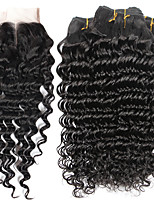 Natural Color Hair Weaves Brazilian Texture Deep Wave 6 Months 5 Pieces hair weaves