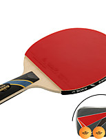 Table Tennis Rackets Table Tennis Ball Ping Pang Rubber Long Handle Pimples 1 Racket 3 Table Tennis Balls 1 Table Tennis BagOutdoor