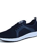 Черный Темно-синий-Для мужчин-Для прогулок Повседневный Для занятий спортом-Тюль-На плоской подошве-Удобная обувь Светодиодные подошвы-