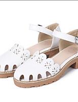 Femme-Extérieure Décontracté-Blanc Gris Rose-Talon Plat-Gladiateur Semelles Légères Confort-Sandales-Cuir