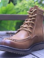גברים של המגפיים באביב נופל החורף נוחות עור המשרד&קריירה שחורה