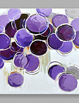 IARTS Modern Abstract Painting Purple-Round Wall Art For Home Decor Stretchered Ready To Hang