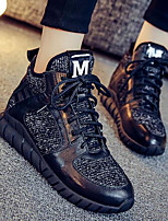 Da donna-Sneakers-Tempo libero Casual-Comoda-Piatto-Di corda-Bianco Nero