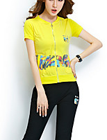 Women's Casual/Daily Simple Summer Hoodie Pant Suits,Solid Round Neck Short Sleeve Cotton