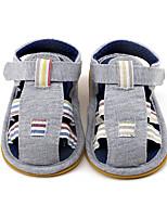 Kids' Sandals Summer First Walkers Fabric Outdoor Casual Flat Heel Hook & Loop Split Joint