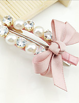1Pcs Hair Light Luxury Elegant Handmade Zircon Diamond Pearl Bowknot Hairpin White-Collar Lady