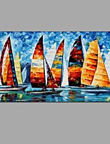 Hand-Painted Abstract Ocean sailing Oil Painting For Home Decoration With Stretched Frame Ready To Hang