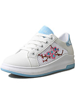 Flats Spring Summer Fall Other Leatherette Outdoor Office & Career Casual Flat Heel Lace-up Black Blue Pink Walking