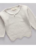 T-Shirt Lässig/Alltäglich einfarbig Seide Baumwolle Winter Herbst Lange Ärmel Normal