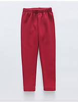 Girls' Casual/Daily Solid Pants-Cotton All Seasons