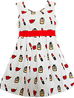 Vestido Chica de Estampado Algodón Sin Mangas Verano Primavera