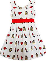 Girls Dress Lipstick Bottle Belt Dresses Party Pageant Wedding Children Clothes
