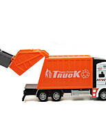 Construction Vehicle Pull Back Vehicles 1:32 Metal Plastic Rubber Green Orange
