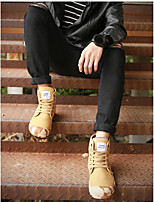 Men's Sneakers Spring Light Soles Rubber Casual Flat Heel Khaki Walking