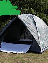 3-4 человека Двойная Однокомнатная ПалаткаПешеходный туризм Походы Путешествия-Камуфляж