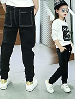 Girls' Casual/Daily Holiday Solid Jeans-Cotton Polyester Spring Fall