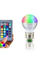 RGB LED Lamp E27 3W  LED RGB Light Lampada LED Bulb 85-265V SMD5050 16 Colors Change with IR Remote Controller