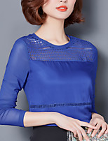 Sign 207 new solid color V-neck long section fat MM shirt Slim minimalist bottoming comfort