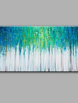 Handgemalte Abstrakt Blumenmuster/Botanisch Horizontal,Modern Ein Panel Leinwand Hang-Ölgemälde For Haus Dekoration