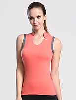 Women's Sleeveless Running Tank Breathable Quick Dry Sweat-wicking Summer Sports Wear Nylon Chinlon Solid
