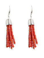 Drop Earrings Crystal Alloy Tassel Fashion Line Beige Gray Red Jewelry Wedding Party Halloween Daily Casual Sports 1 pair