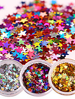 1 Box Laser Nail Glitter Sequins Sparkle Paillette Manicure Nail Art Decoration