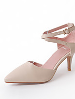 Women's Sandals Summer Club Shoes Comfort Leatherette Wedding Casual Stiletto Heel Buckle