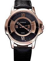 YAZOLE Men's Dress Watch Fashion Watch Wristwatch Casual Watch Quartz PU Band Unique Creative Cool Casual  Business Creative Watches