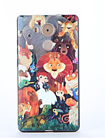 For Huawei Mate 9 Mate 8 Pattern Case Back Cover Case Cartoon Soft TPU