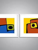 Pinturas com Molduras Abstrato Lazer Moderno Realismo,2 Painéis Tela Quadrangular Impressão artística Decoração de Parede For Decoração