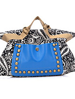 Women Fashion Bohemia Style Canvas Rivet Tote Canvas Casual Event/Party Outdoor Tote