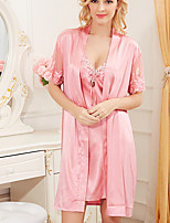 Women's Ultra Sexy Nightwear Solid-Thin Polyester Women's