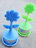 flor bule de chá em forma infusor / chá coador de café /&jogos de chá / chá de silicone (cor aleatória)