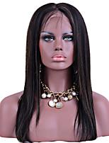 Highlight T1b / 27 Farbenspitzefrontseiten-Menschenhaarperücken seidige gerades Haar 100% peruanische reine Haar glueless Perücken für