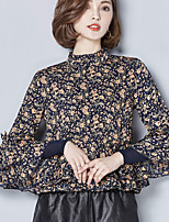 Women's Going out Cute Blouse,Polka Dot Crew Neck Long Sleeve Others
