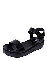 Women's Sandals Summer Mary Jane Leatherette Outdoor Dress Casual Flat Heel Buckle Walking